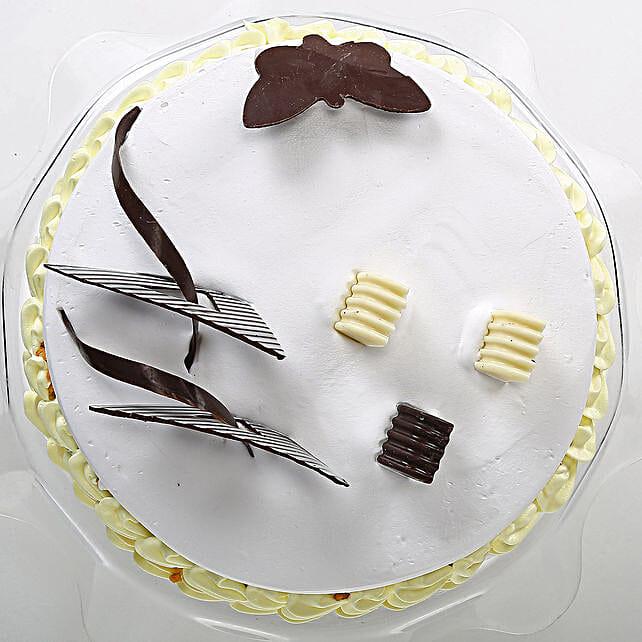 Butterscotch Round Cake 1kg Eggless