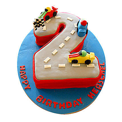 Car Race Birthday Cake 3kg Chocolate