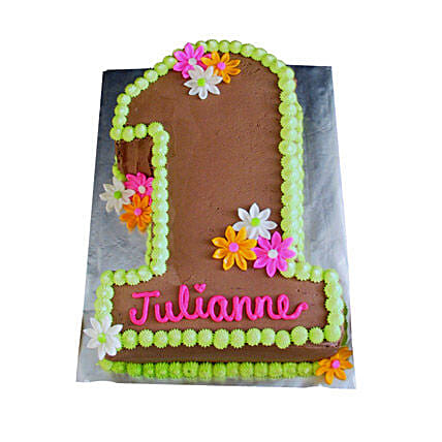 Chocolaty 1st Birthday Cake 2kg Pineapple