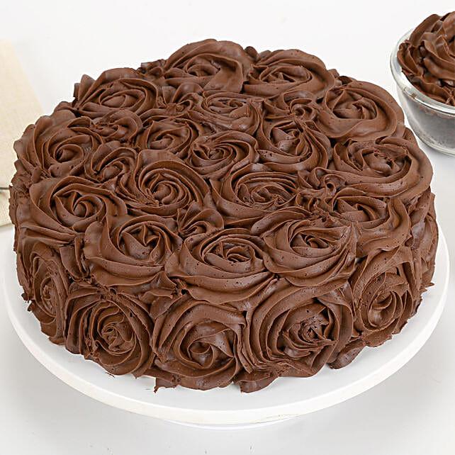 Chocolaty Rose Cake 1kg Eggless