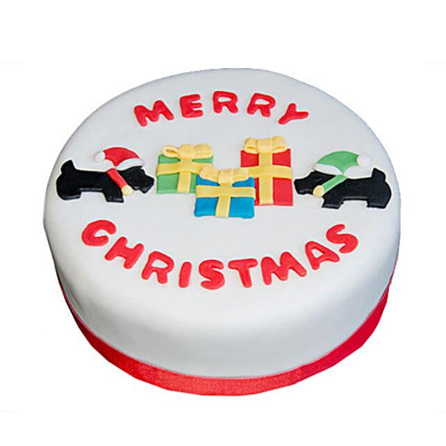 Christmas Celebrations Cake 1kg Eggless