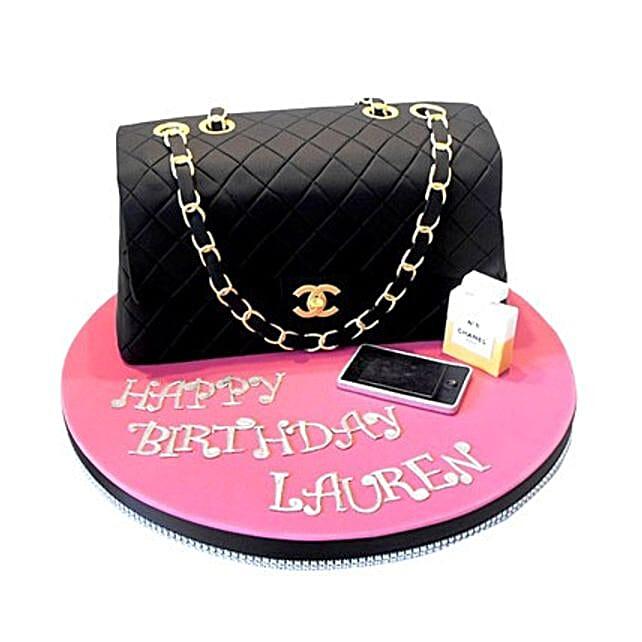 Classy Chanel Cake 2kg Eggless