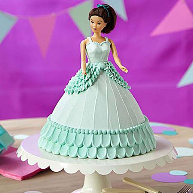 Cool Blue Barbie Cake Truffle 2kg