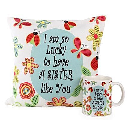 Cushion Mug For Sisters