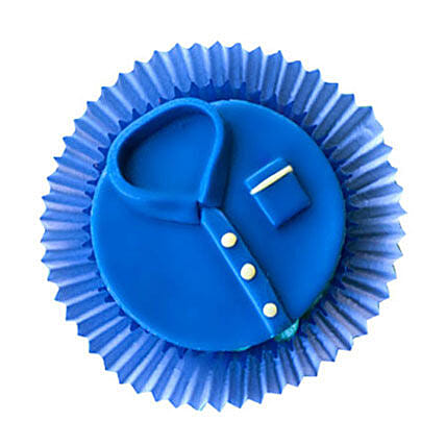 Customized Blue tshirt Cupcakes 12 Eggless