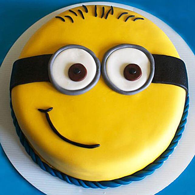 Cute Minion Cake 1kg Vanilla