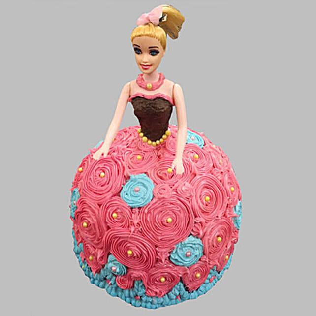 Dashing Barbie Cake Butterscotch 3kg Eggless