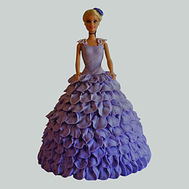 Dazzling Blue Barbie Cake Butterscotch 2kg