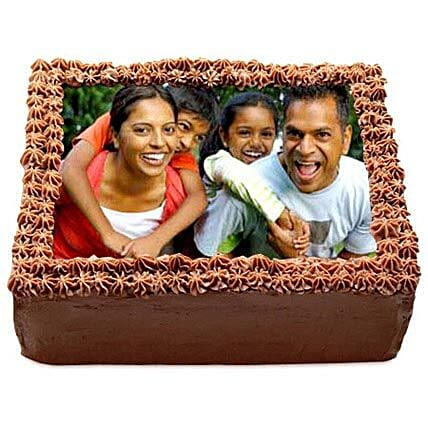 Delicious Chocolate Photo Cake Eggless 2kg by FNP