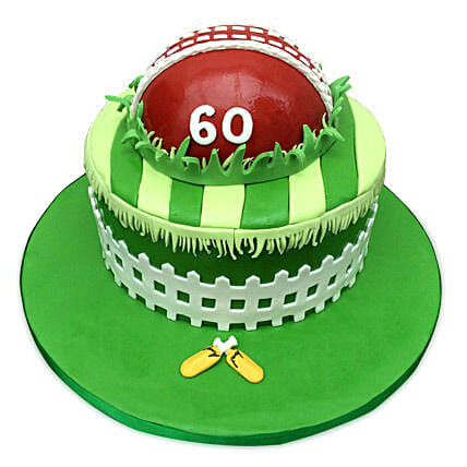 Designer Cricket Fever Cake 2kg Eggless Chocolate