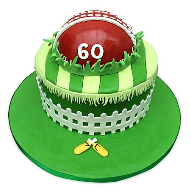 Designer Cricket Fever Cake 4kg Eggless Butterscotch