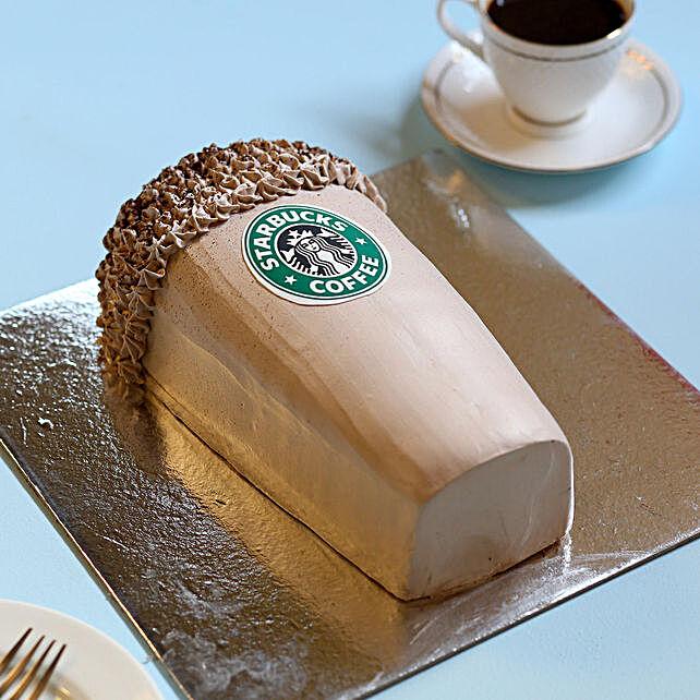 Designer Starbucks Cake 2Kg Eggless Chocolate