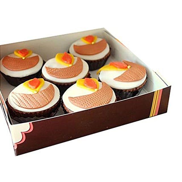Diya Cupcakes 12 Eggless