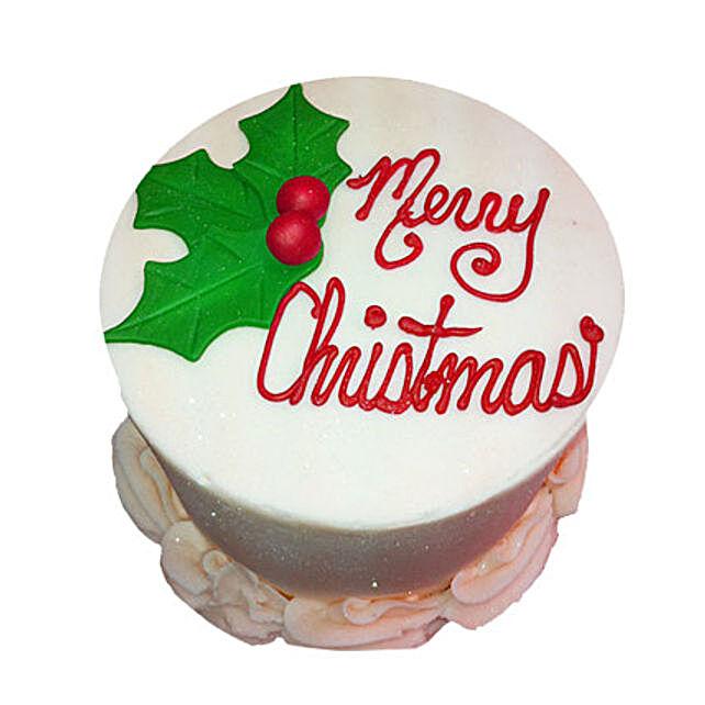Elegant Christmas Cake 2kg Eggless