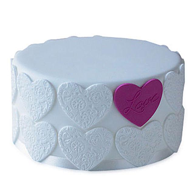 Elegant Love Cake 4kg Eggless Pineapple