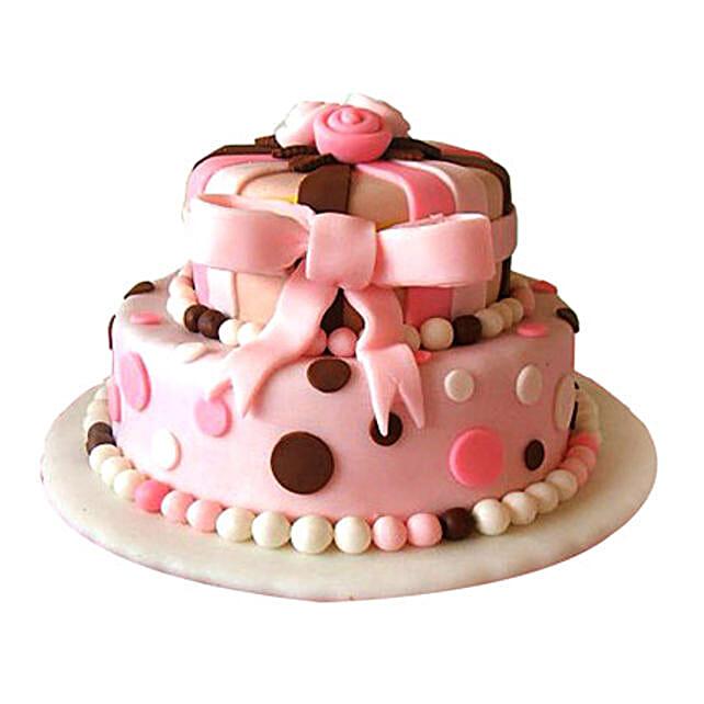 Elegant Pink Cake 5kg Eggless