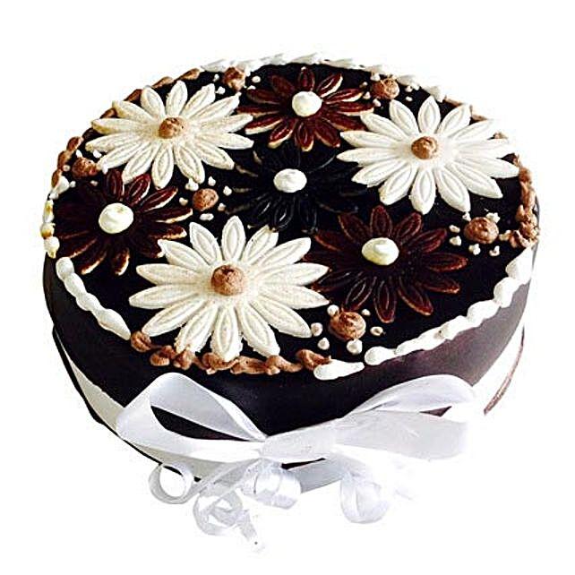 Floral Cake 1kg Eggless