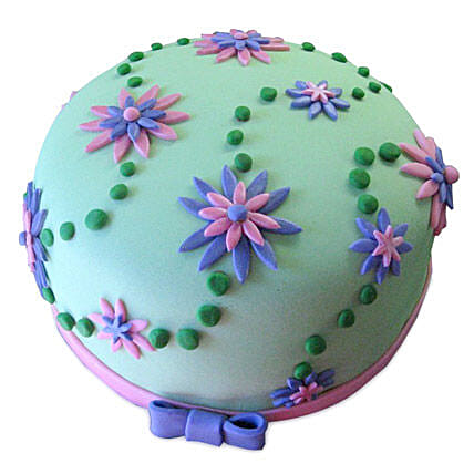 Flower Garden Cake 1kg Eggless Chocolate