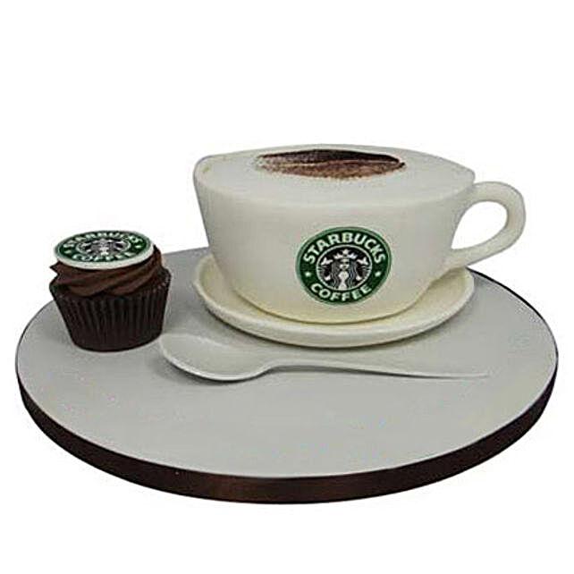 Forever Starbucks Cake 3kg Chocolate Eggless