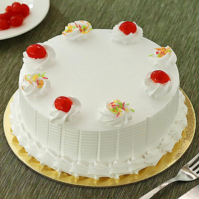 Fresh Vanilla Cake Half kg Eggless