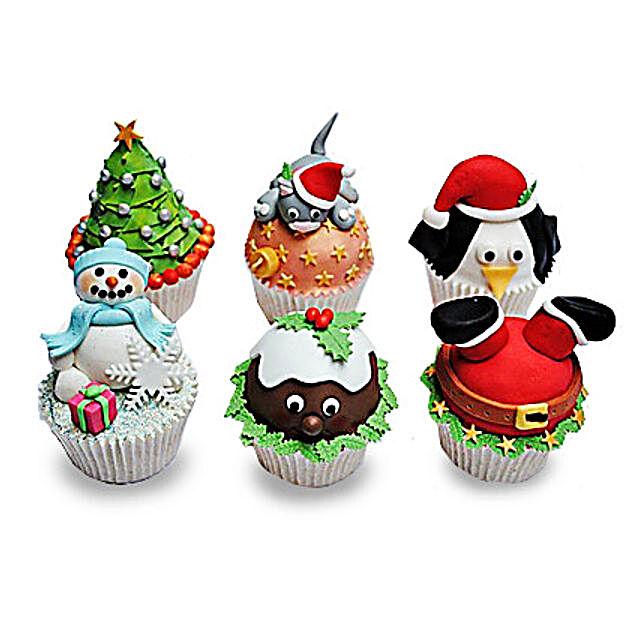 Funny Christmas Cupcakess 24 Eggless