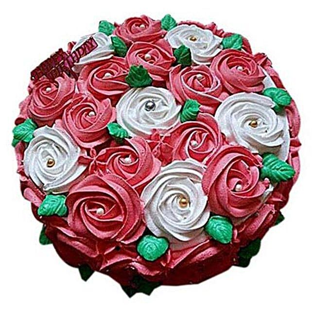 Half kg Swirl Roses Cake by FNP