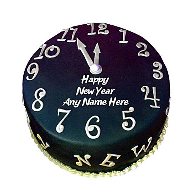 Happy New Year Countdown Fondant Cake 2kg Eggless
