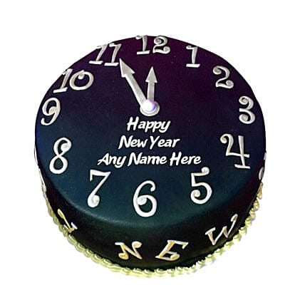 Happy New Year Countdown Fondant Cake 3kg Eggless