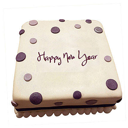 Happy New Year Fondant Cake 2kg