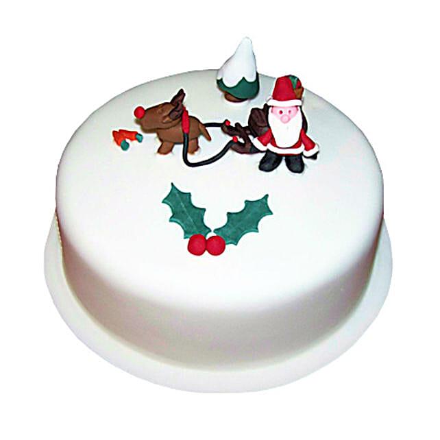 Happy Santa Christmas Cake 3kg Eggless