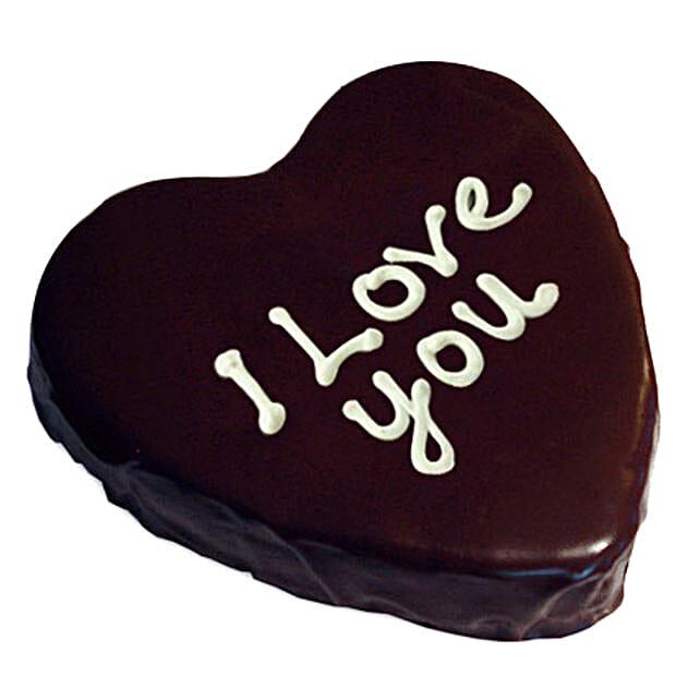 Heart Chocolate Cake 1kg Eggless