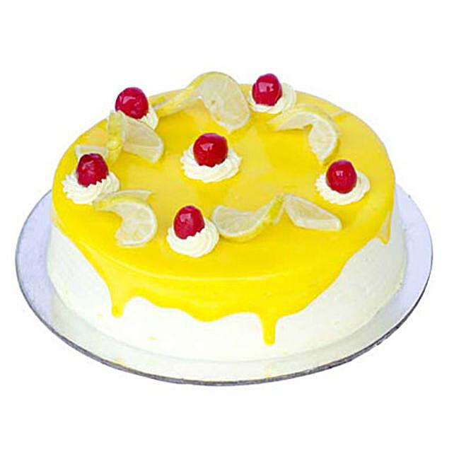 Lemon Vanilla Cake Half kg Eggless