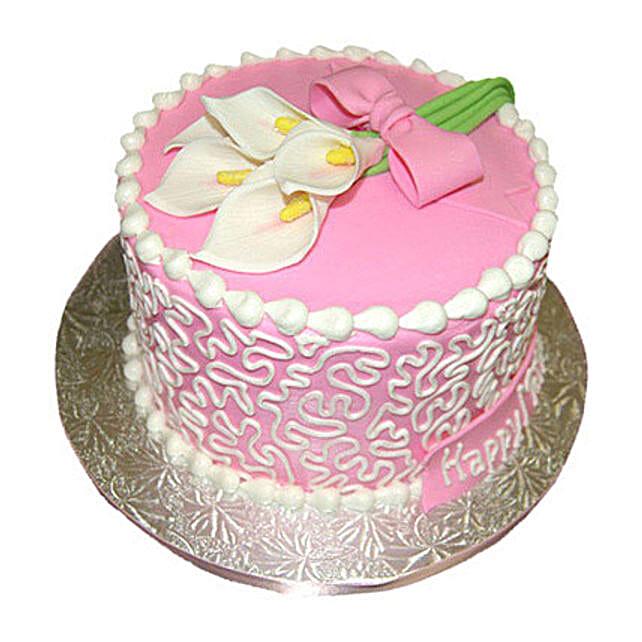 Lily Cake 1kg Vanilla Eggless