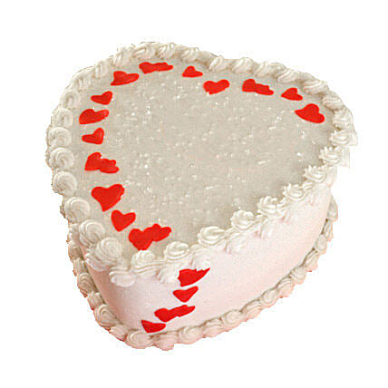 Lovely Heart Shape Cake for corp