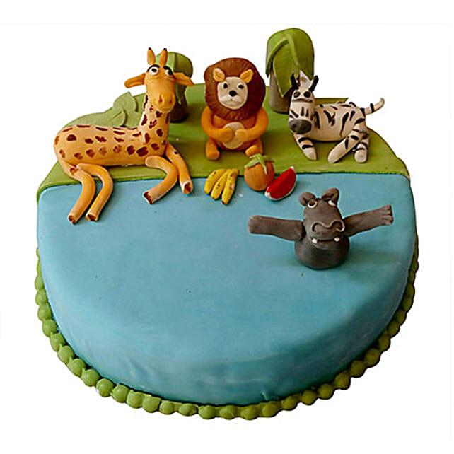 Madagaskar Fondant Cake 2 Kg