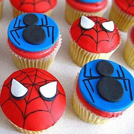 Meet the Spiderman Cupcakes 24 Eggless
