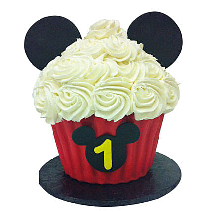 Mickey Mouse Floral Cupcake 12