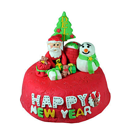 New Year With Santa 4kg Eggless