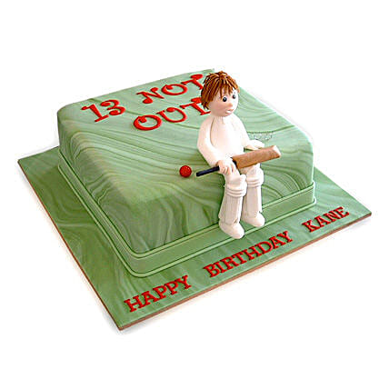 Not Out Cricket Cake 3Kg Eggless Chocolate