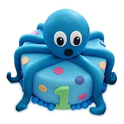Octopus Cake 4Kg Eggless Chocolate