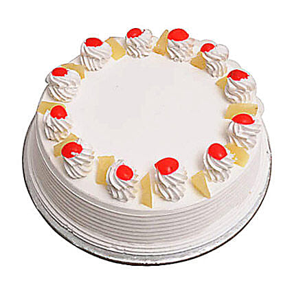 Pineapple Cake Eggless 1Kg by FNP
