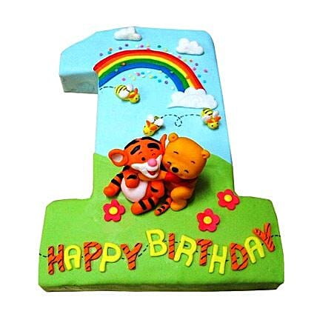 Pooh Tigger Cake 4kg Vanilla Eggless