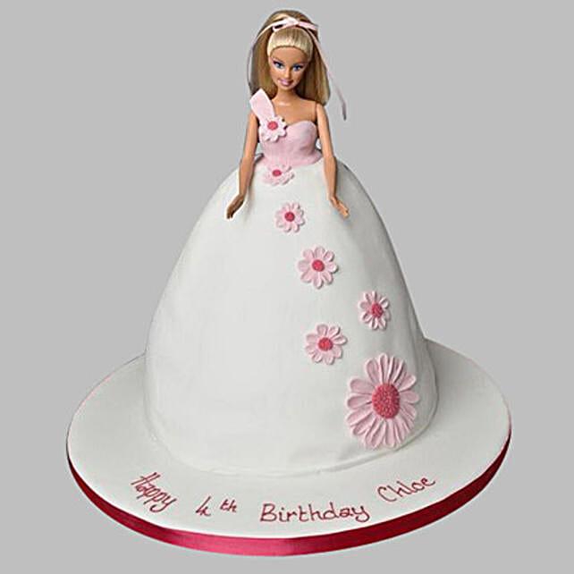 Pristine White Barbie Cake 2Kg Chocolate