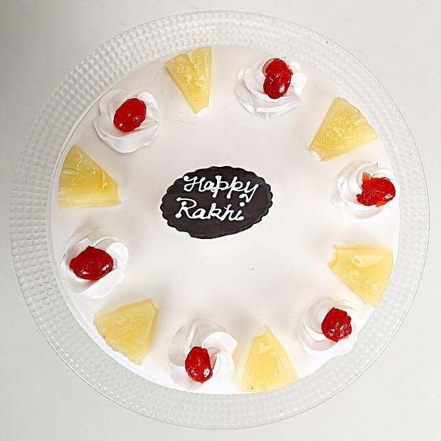 Rakhi and Pineapple Cake half kg eggless
