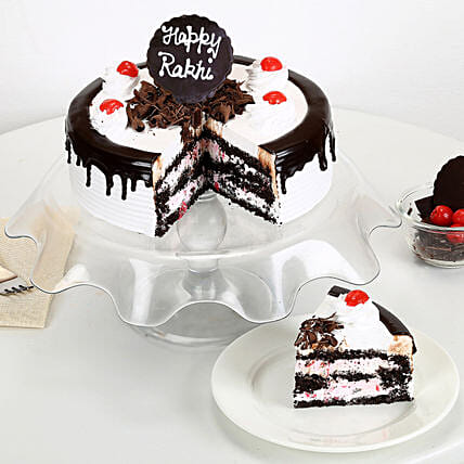 Rakhi with Blackforest Cake 2kg eggless