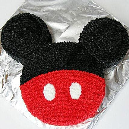 Red N Black Mickey Mouse Cake 2kg Chocolate