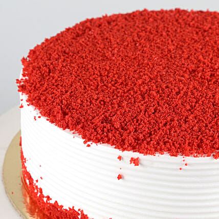 Red Velvet Fresh Cream Cake Half kg Eggless