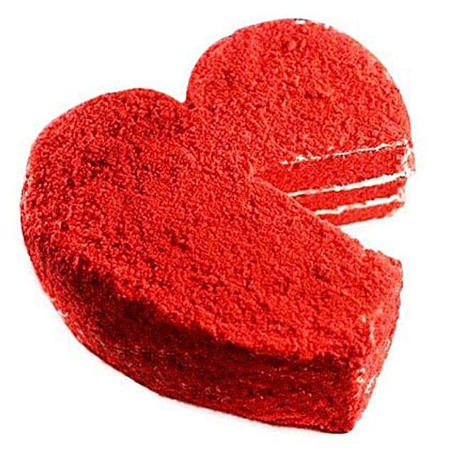 Red Velvet Valentine Heart Cake