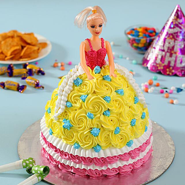 Rosy Barbie Cake Black Forest 3kg Eggless