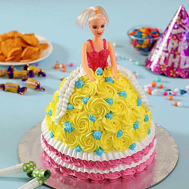 Rosy Barbie Cake Butterscotch 2kg